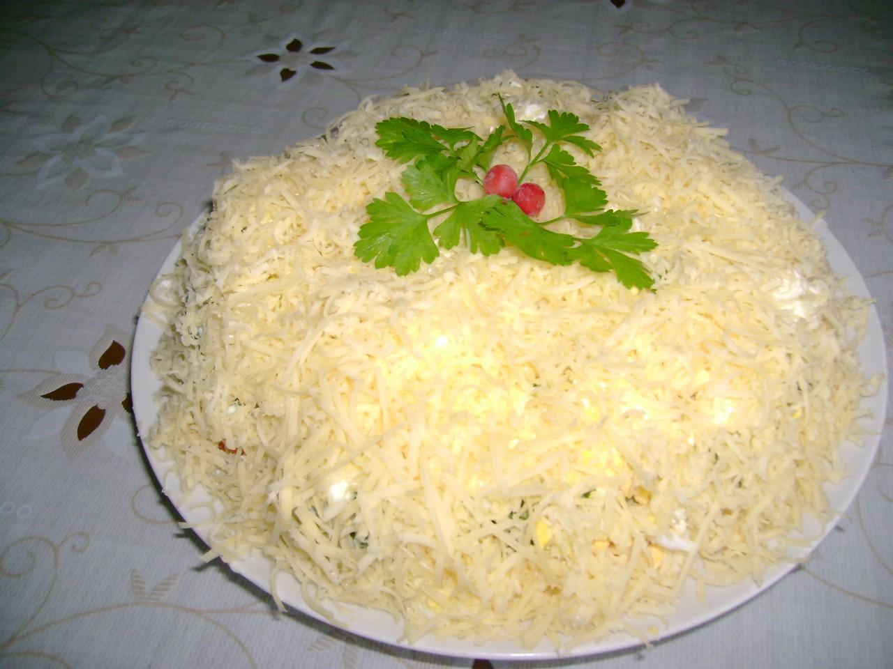 Пошаговый рецепт салата невеста