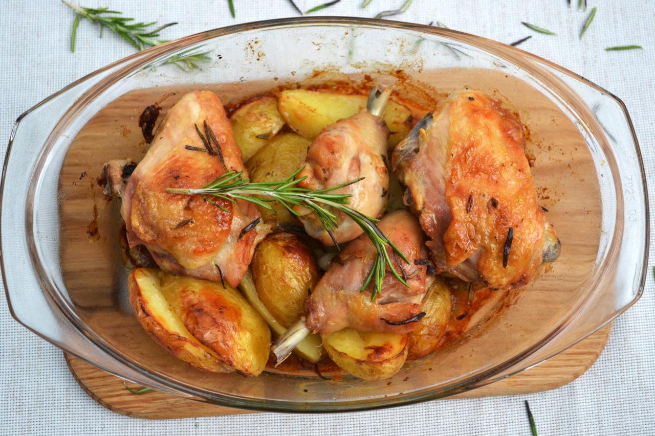 Как сделать курица в духовке с картошкой рецепт с фото