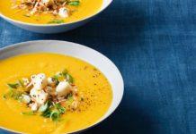 Суп из тыквы и курицы в мультиварке