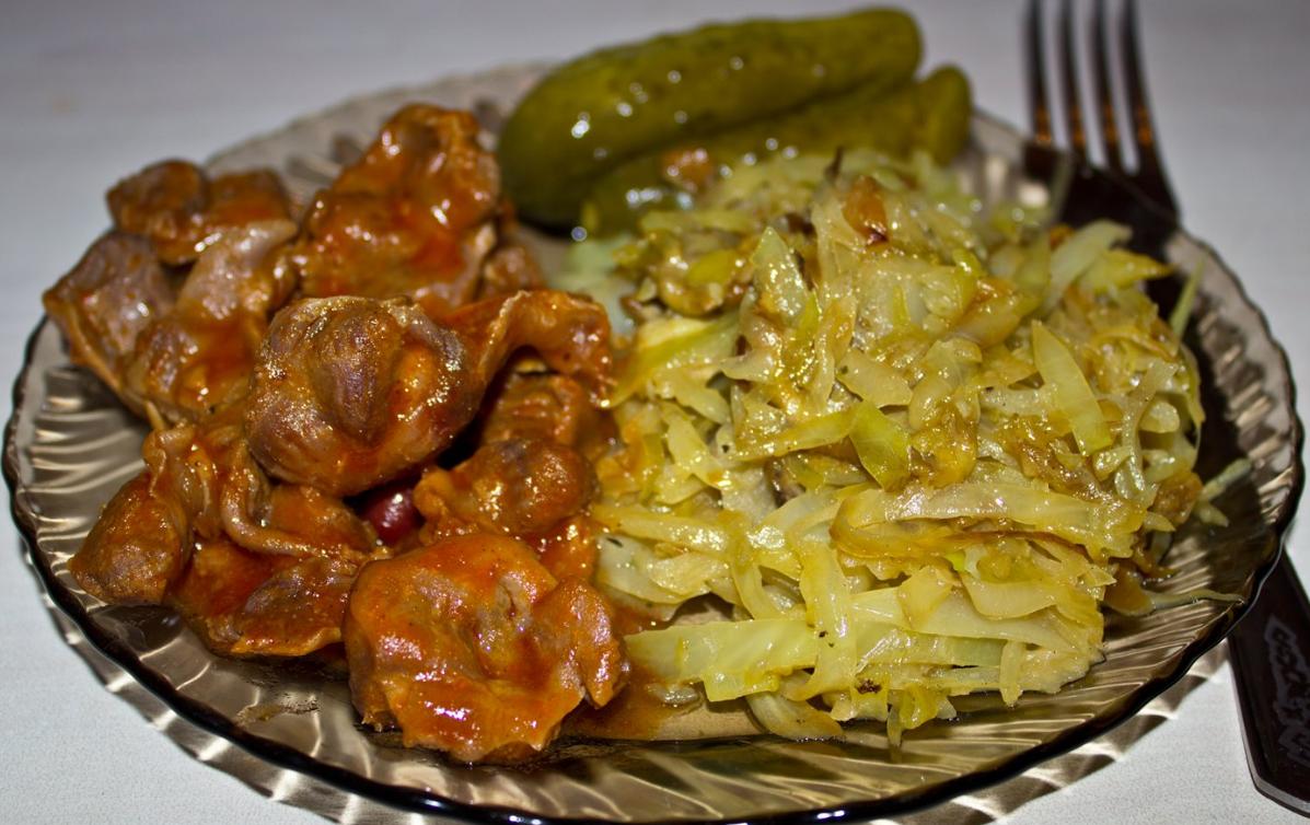 Желудки куриные, тушенные в сметане — 7 рецептов